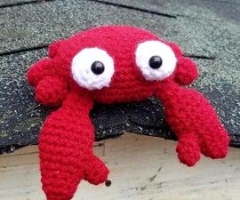Harriet the Crochet Red Crab