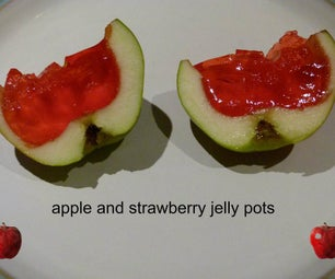 Apple and Strawberry Jelly Pots