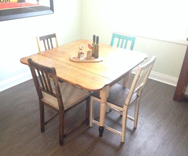 Distressed Wood Chairs ....... IKEA Upgrade