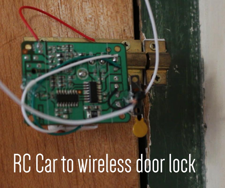 Recycled Wireless Door Lock (No Coding)