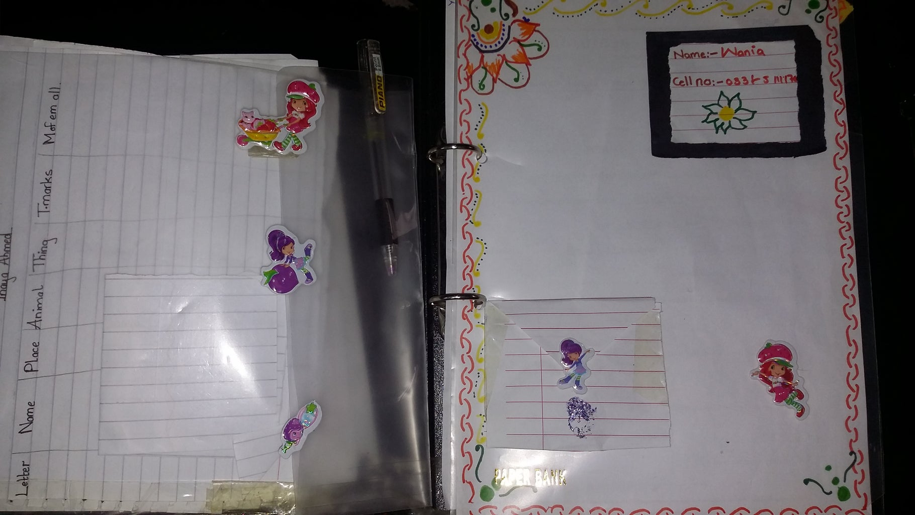 a Recycled Organizer.