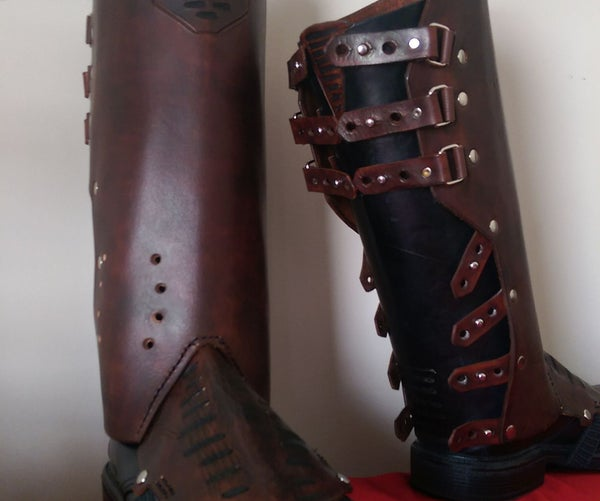 Leather Star Lord Boot Covers (Gaiters) Guardians of the Galaxy