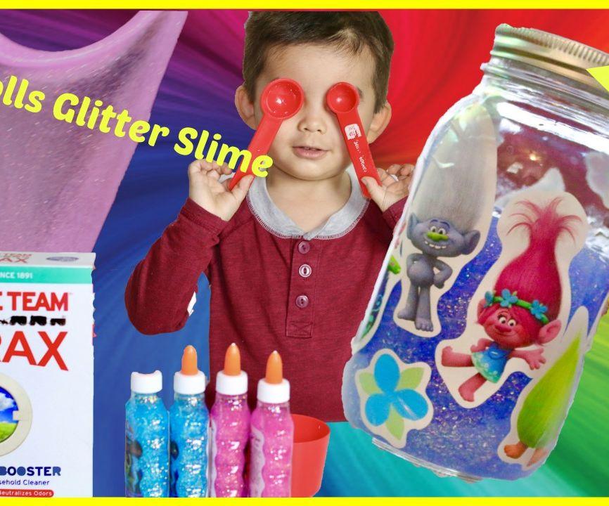 Trolls Colored Glitter Slime