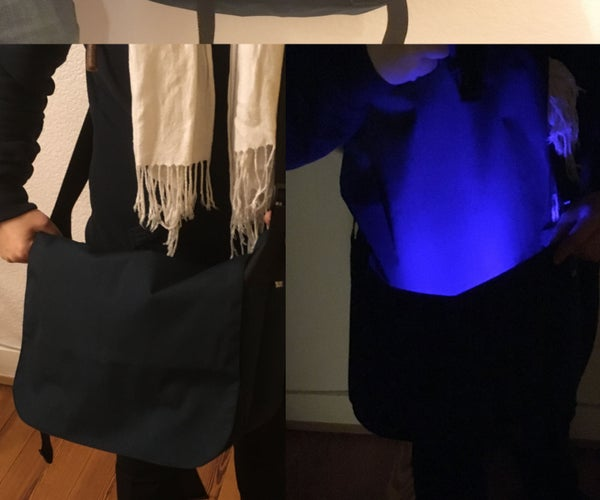 Messenger Bag With Automatic Interior Lightning