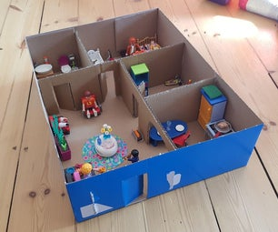 Easy to Build Toy or Doll Cardboard House