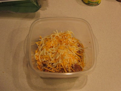 Mix the Beans and Cheese Together
