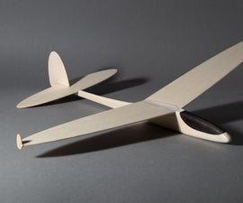 D-LBFG Discus Launch Balsa Free Flight Glider