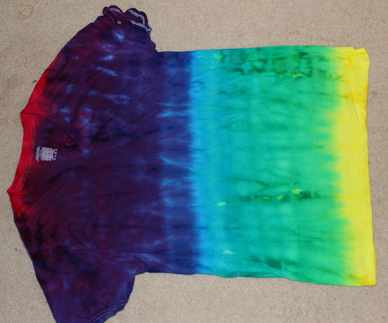 Ombre Dyed Rainbow T-Shirt