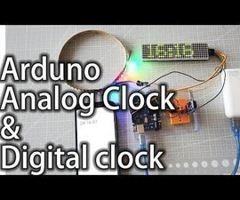 How to Make Analog Clock & Digital Clock With Led Strip Using Arduino