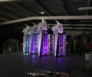 Custom Built LED Color Changing Trophies