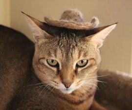 Felted Cat Fur Cat Hat