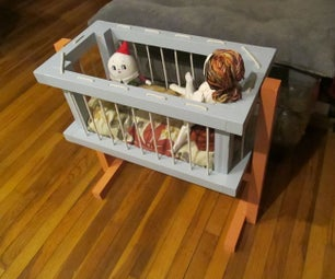 Old-fashioned Crib for Dolls & Stuffies