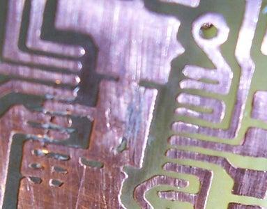 Finally Sandpaper the PCB