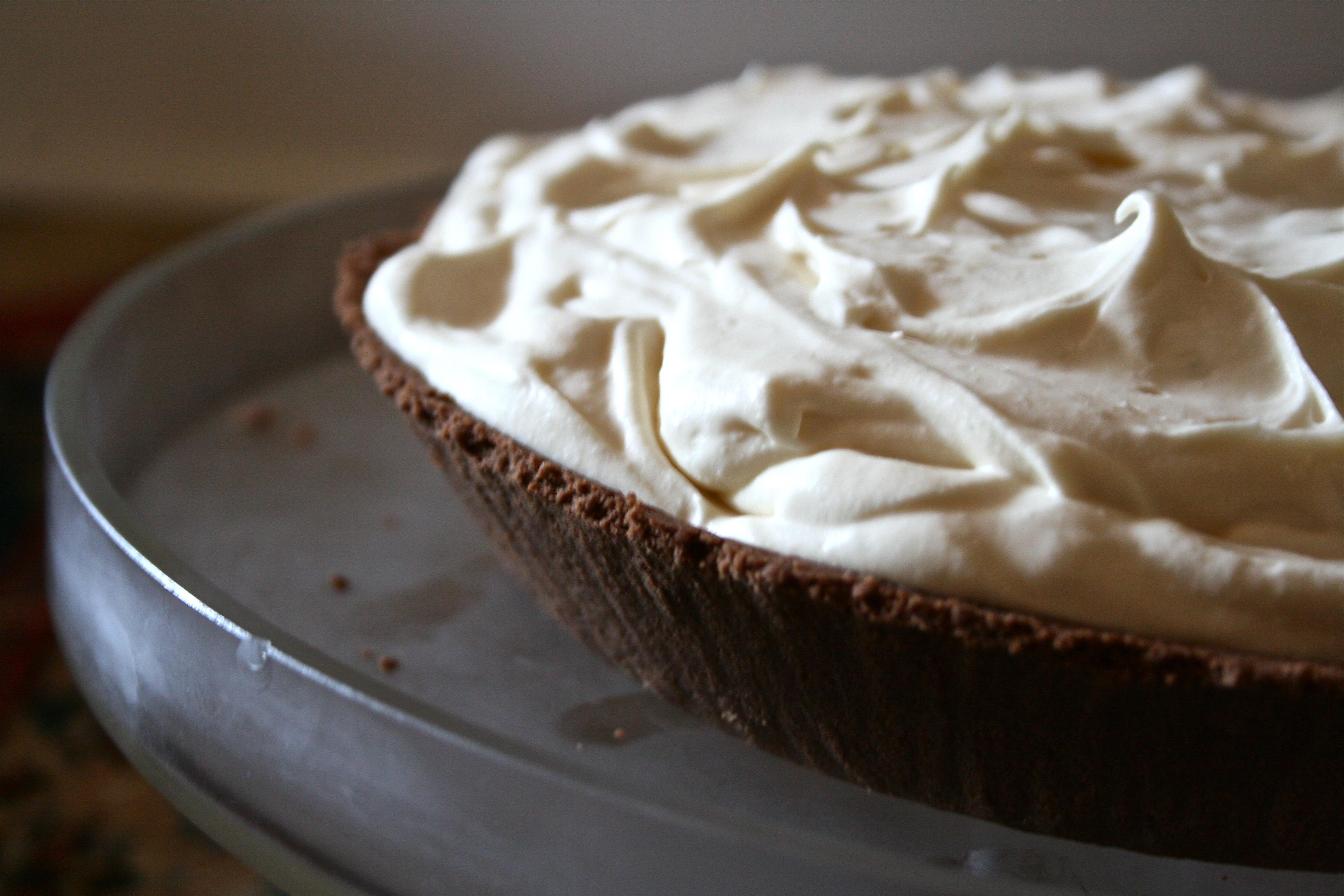 White Chocolate Mocha Pie
