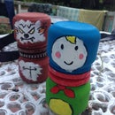 Russian nesting doll from jars