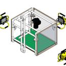 A2 overhead corner-LEDs lightbox - softbox extension