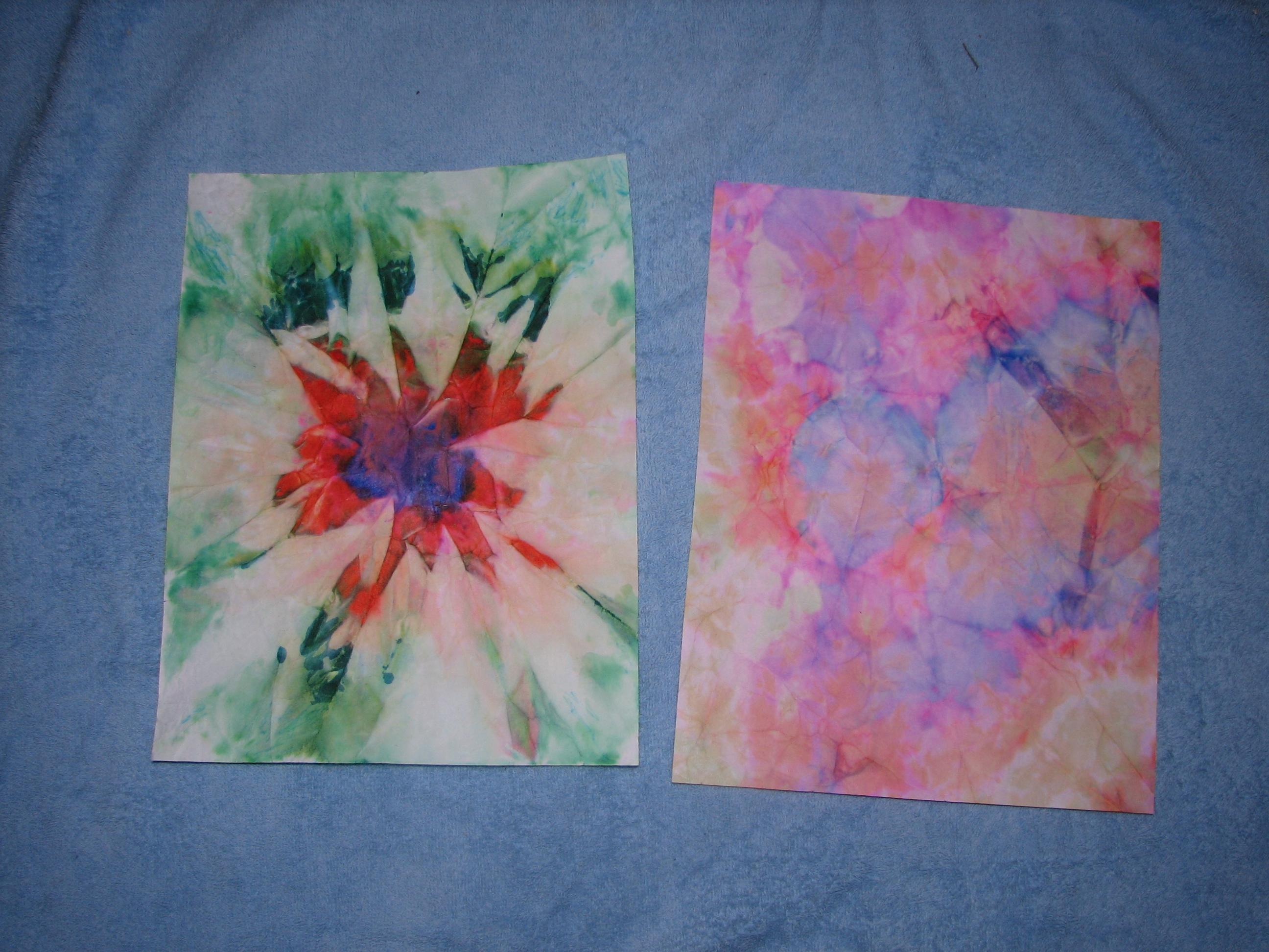 Tie-Dye Paper