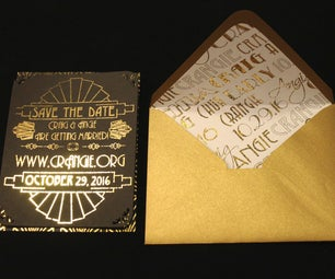 DIY Gold Foil Printing for Invitations and Envelope Liners