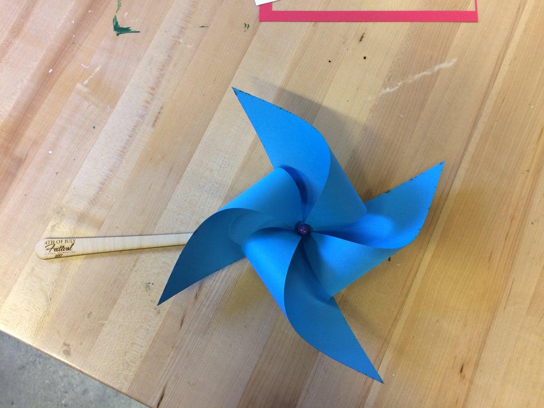 Laser-cut Pinwheels