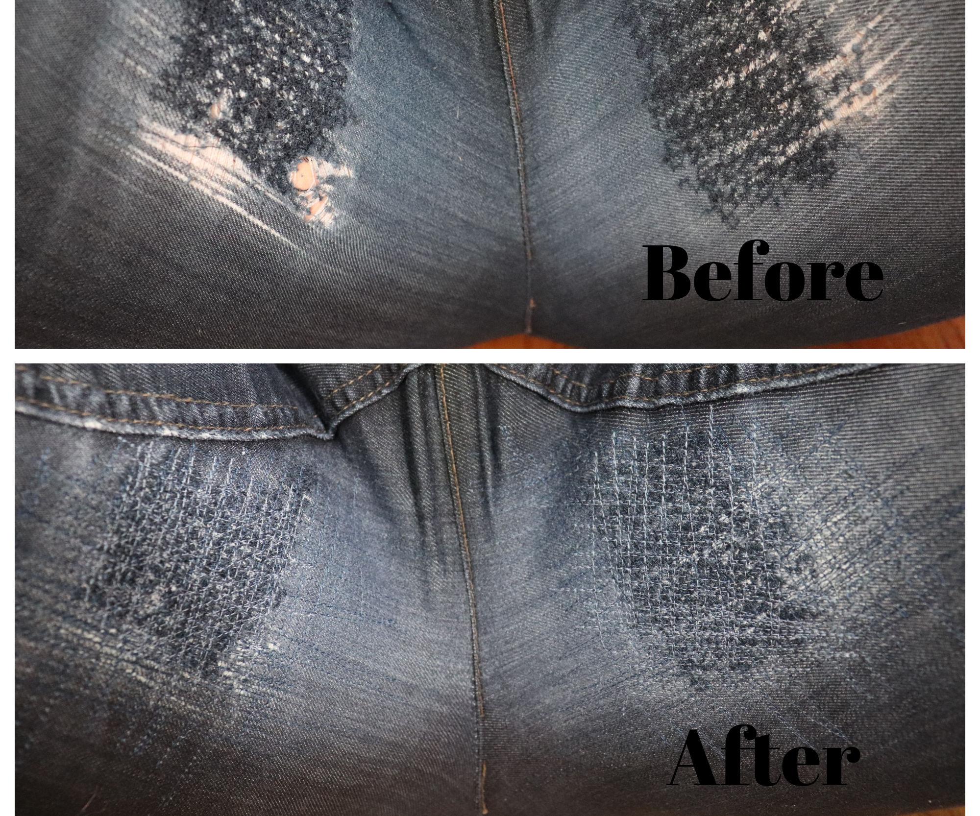 Fix Denim Thigh Holes