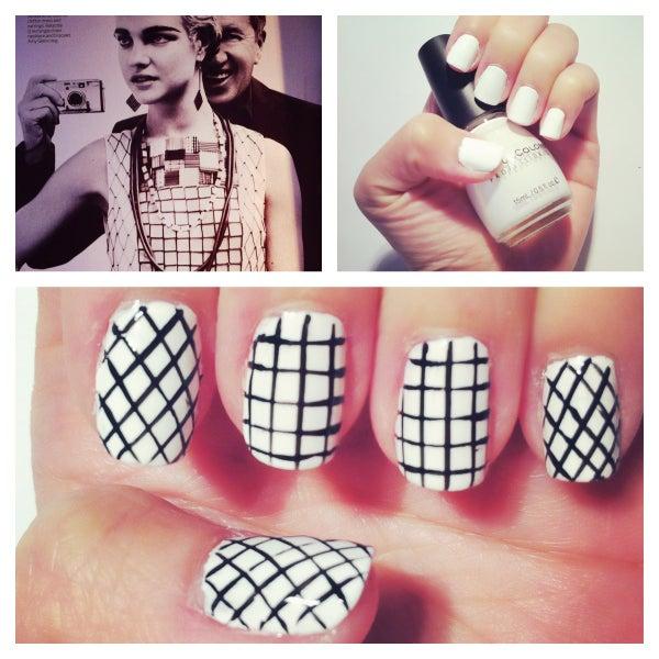 Fashion Inspired Nail Design #2 - Black & White