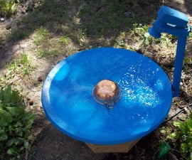 Octagon Stand for the Satellite Dish Bird Bath