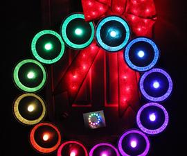NeoPixel Pie Tin Arduino Wreath