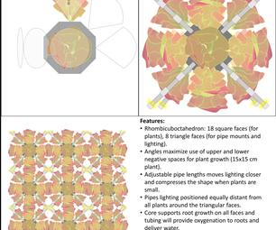 Rhombicube Microgravity Plant Growth Module