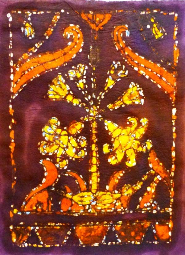 Batik Printing a Wall Hanging