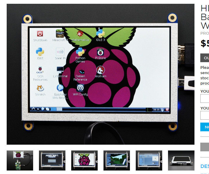 """800 X 480 5"""" HDMI Display Using Jessie With Pixel - Resolution Issue"""