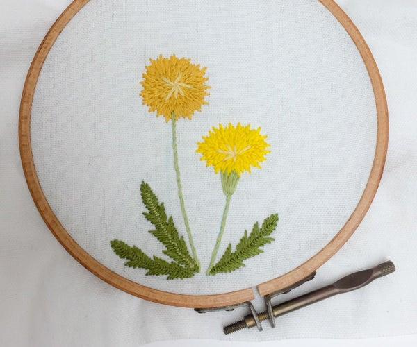 Easy Handembroidered Dandelion