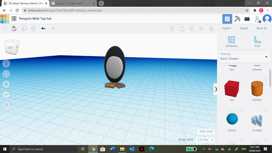 Drag the New Elongated Sphere to Make the New Sphere Just Slightly Stick Out.