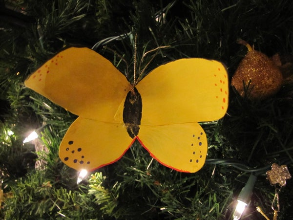 How to Make a Butterfly Ornament Out of a Coke Bottle
