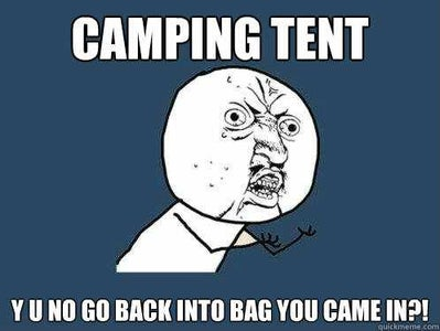 Get a Tent Back Into the Bag