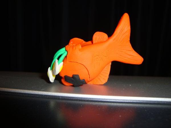 Amusing Dead Fish Sculpey Sculpture