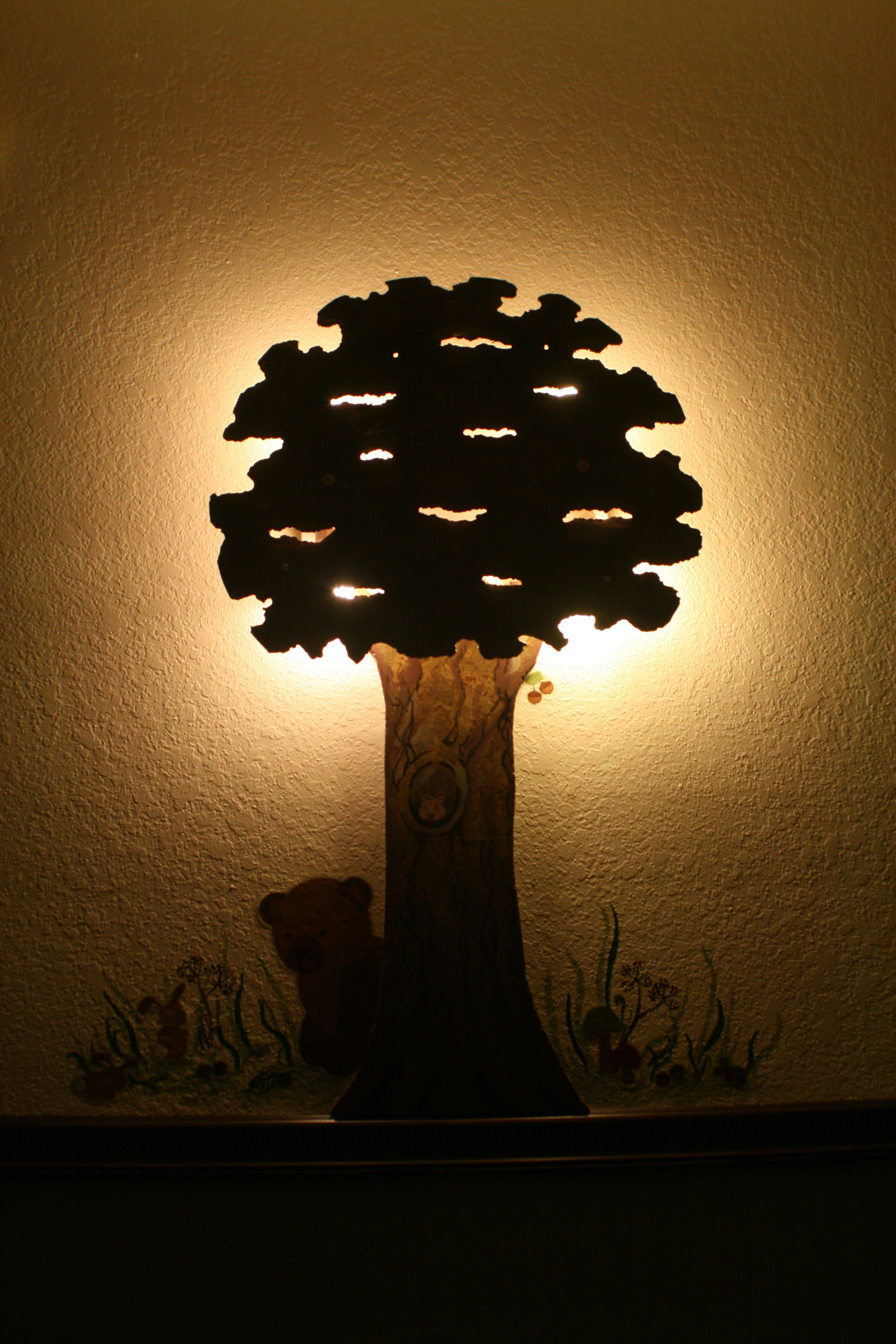 Make a custom wall lamp out of scraps