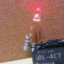 LED on Mobile Battery