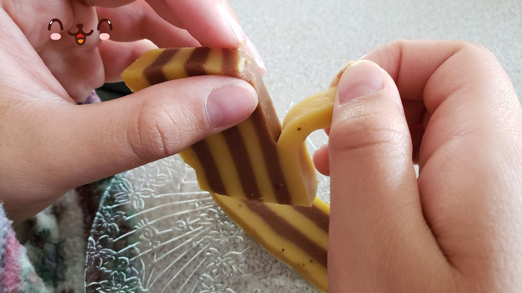 Making Stripes Cake