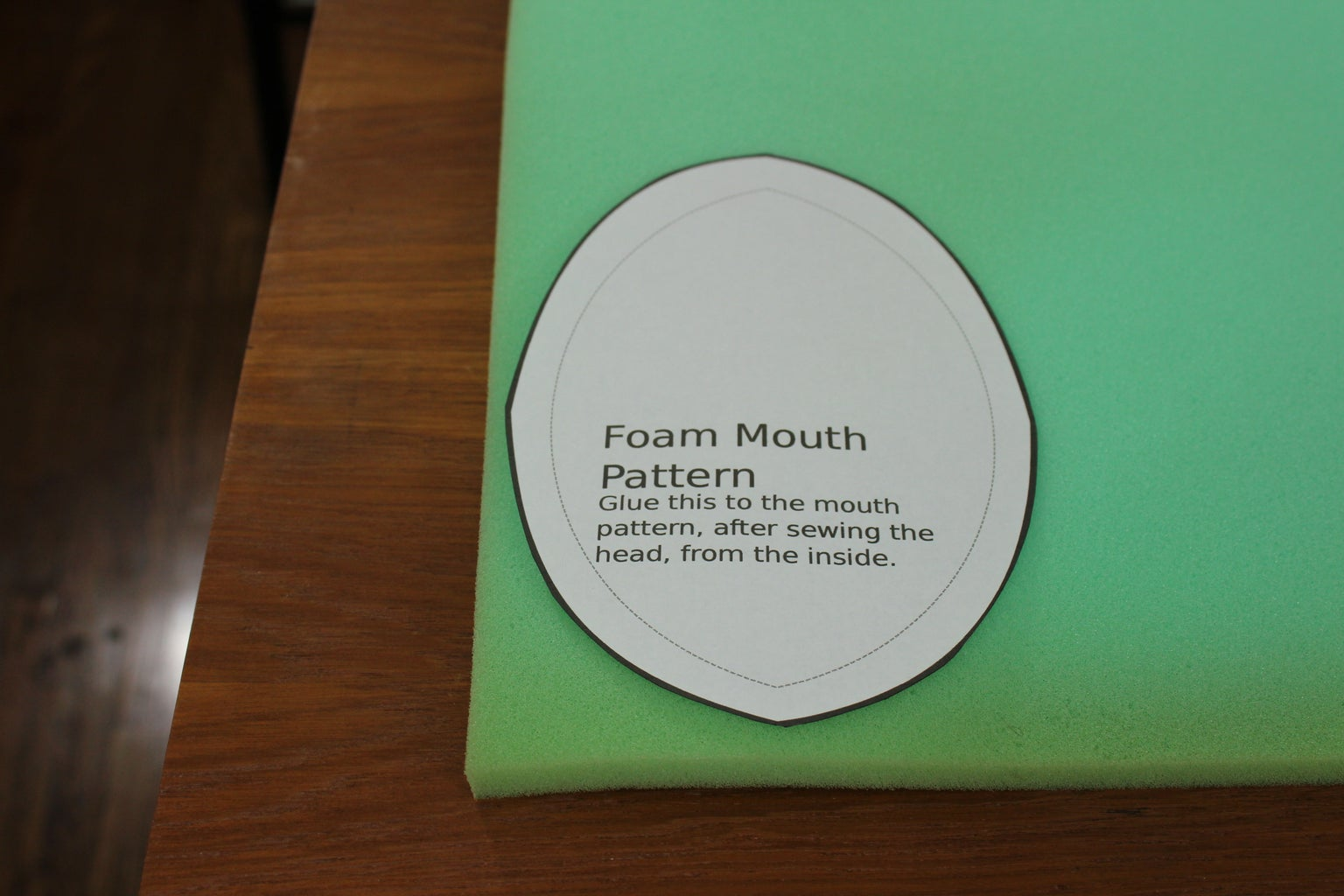 The Foam Piece for the Mouth