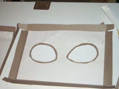 Cereal Box Eyes - Glue on Paper