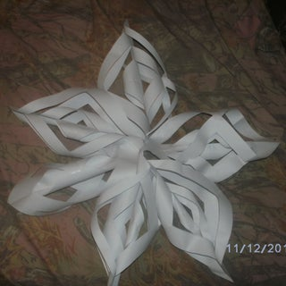 3D Paper Snowflake in Four Easy Steps!