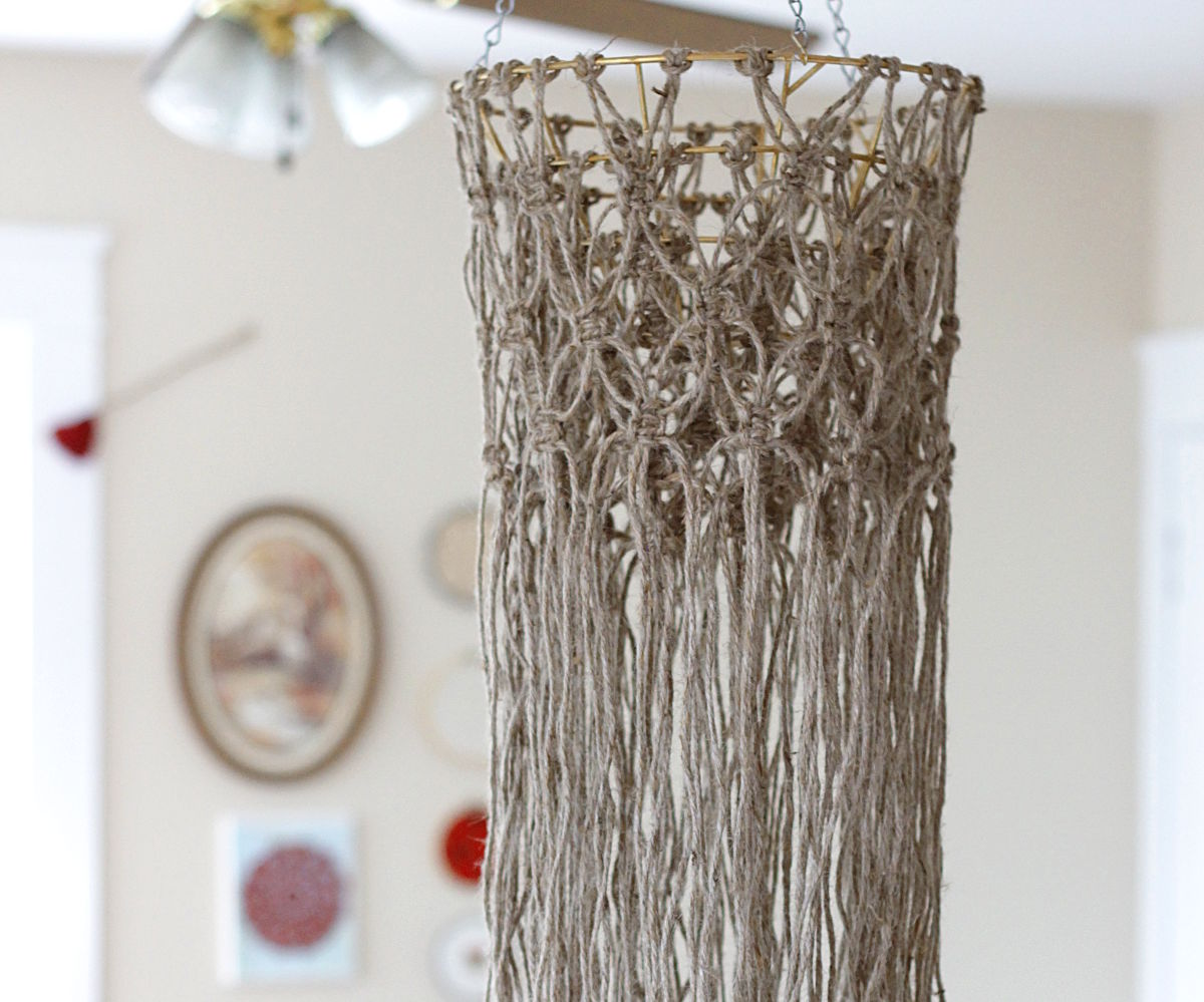 DIY Macrame Hanging Chandelier