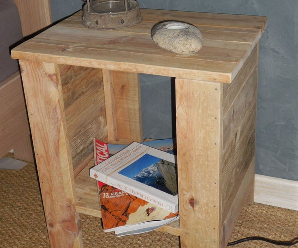 Simple Bedside Table With Pallet