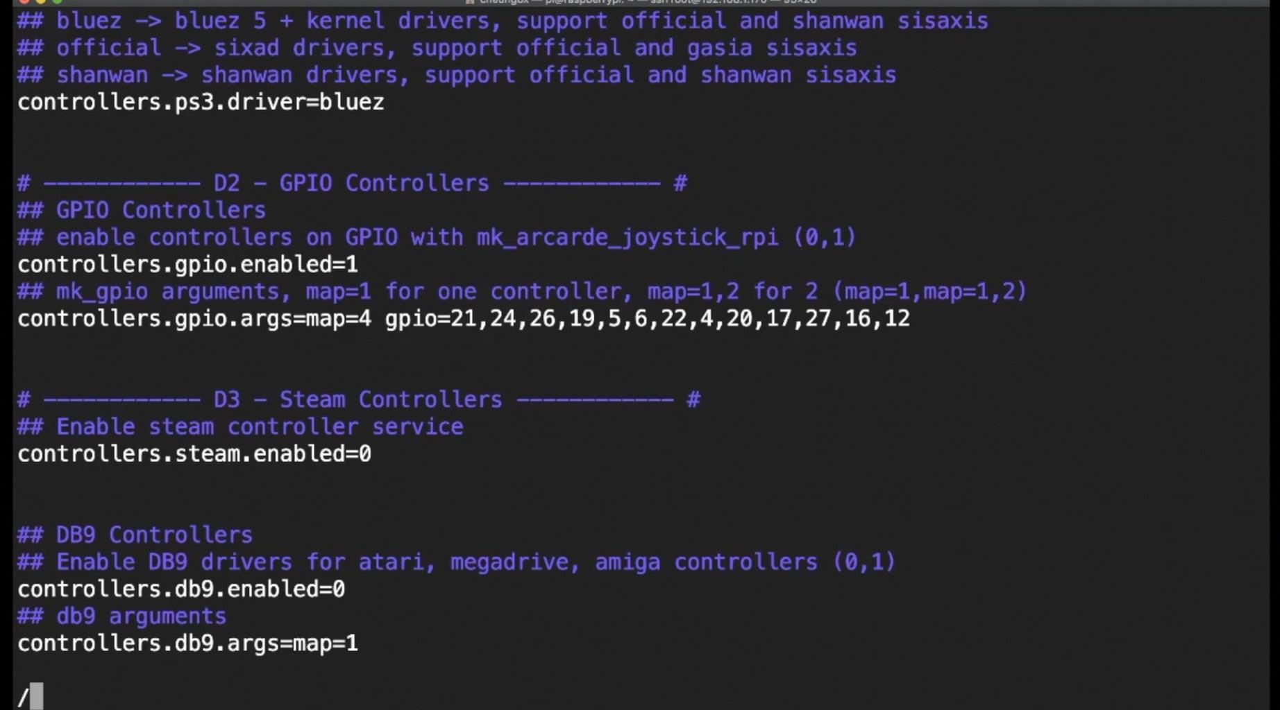 D. Modify Recalbox Configurtions for GPIO Controller Buttons