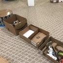 Soda can/cardboard mobile workspace