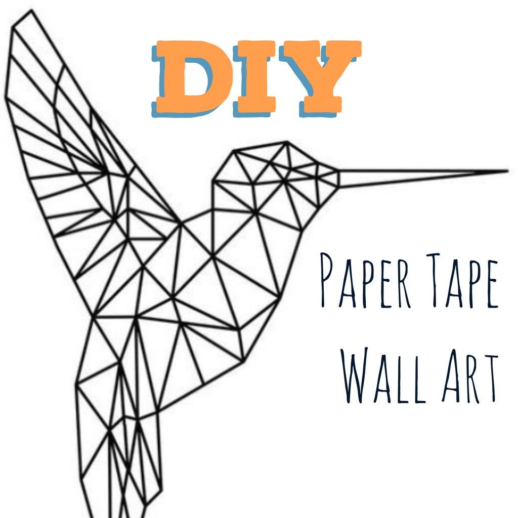 DIY Paper Tape Wall Art