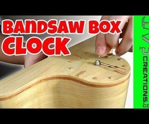 Bandsaw Box Clock With Hidden Storage