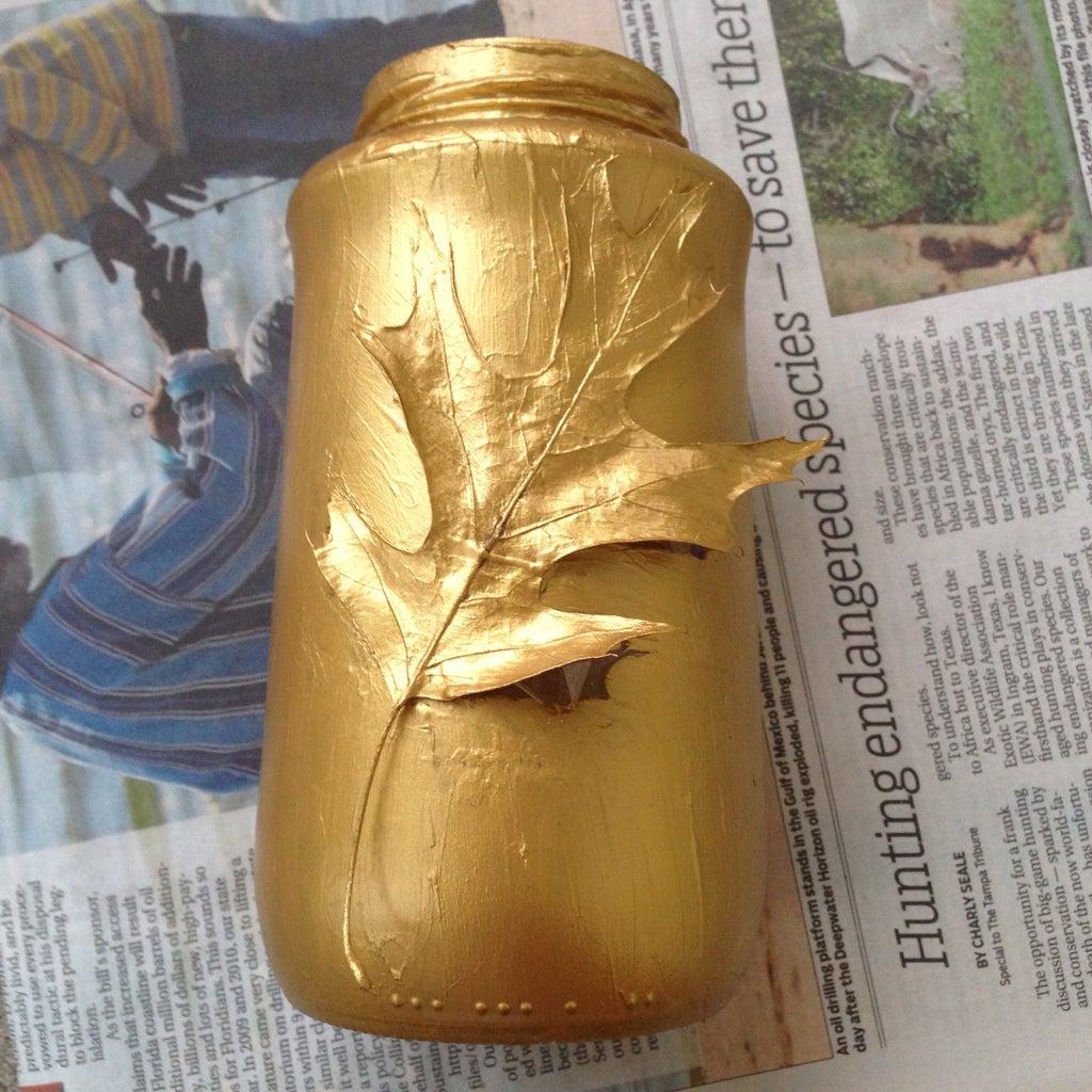 Tape Leaf and Paint Jar
