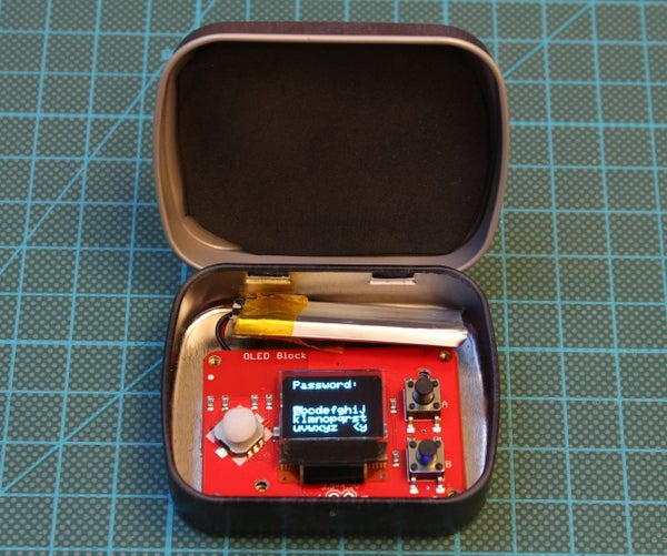 The PinTin Nano - Your Edison-Based Password Keeper