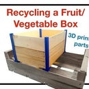Recycled Wood Box Using 3D Printing Parts